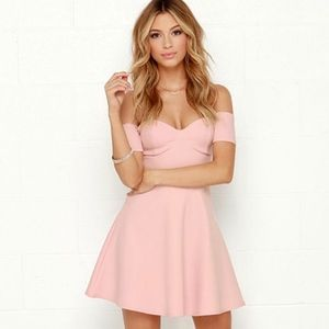 Lulus Celebrate Good Times Off the Shoulder Dress